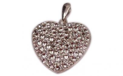 Pandantiv Heart Ceralun XXL, Cristal,