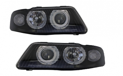 Set 2 faruri Angel Eyes compatibil Audi