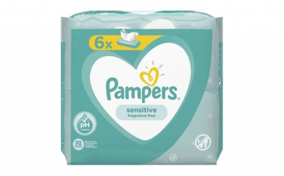 Servetele umede Pampers Sensitive (6x52