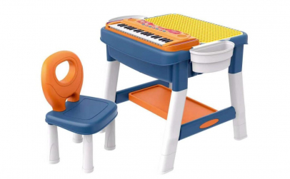 Masa tip lego cu scaunel si pian