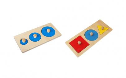 Set 2 Puzzle Montessori Forme Geometrice