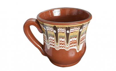 Cana ceramica lut pentru lapte cu