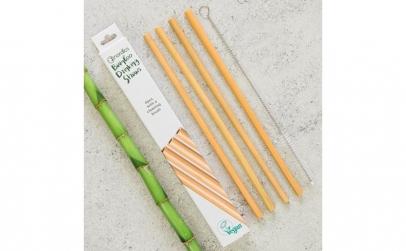 Pai din bambus pentru baut  set 4 bucati