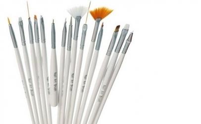 Pensule Nail Art Brush - Set 15 bucati