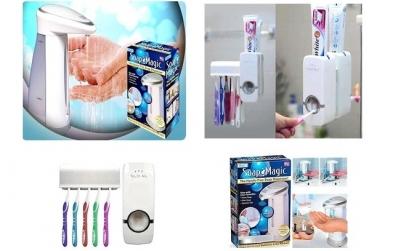 Dozator sapun+dozator pasta dinti+cadou