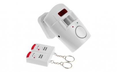 Mini sistem alarma cu telecomanda, alb