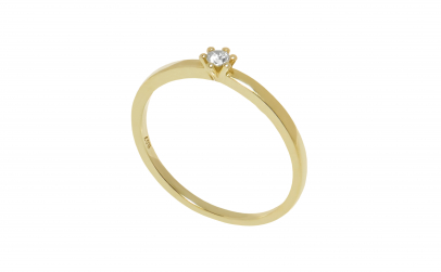 Inel de logodna 14k cu diamant 0.07 ct