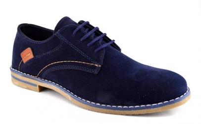Pantofi barbatesti bleumarin piele