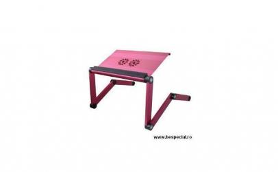 Suport roz pentru laptop din aluminiu