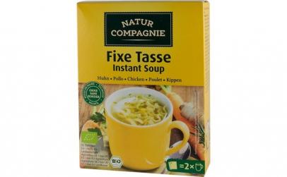 Supa bio instant de pui cu taitei, 34 g