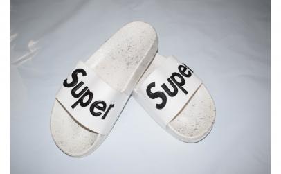 Papuci albi pentru baieti