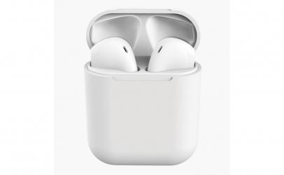 Casti Bluetooth i12, Cu carcasa Alb