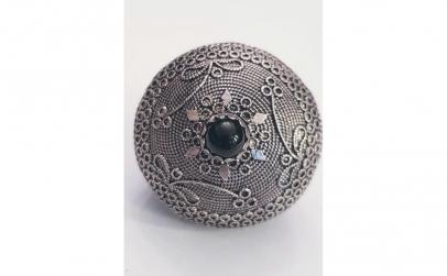 Pandantiv Topazio din Argint cu Onix