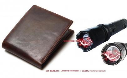 Lanterna cu electrosoc + cadou portofel