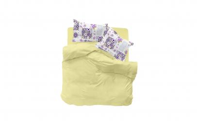 Cearceaf de pat 240x260 cm + 2 Fete de