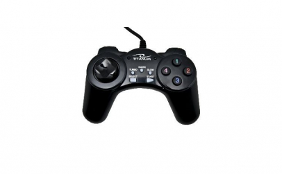 Gamepad  pentru PC, 12 taste, Negru