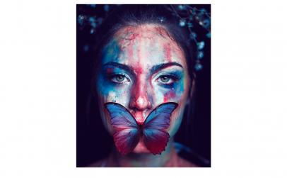 Tablou Canvas Fluture, 95 x 125 cm
