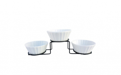 Set 3 boluri ceramica, aperitive,