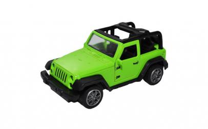 Jeep metal, 16x7x7 cm.,Cu baterii,Verde