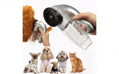 Perie cu vacuum pentru par animale