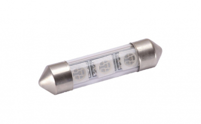 Bec LED SOFIT STICLA 39MM 3 SMD 5050 12V