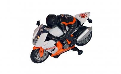 Motocicleta si motociclist cu sunete