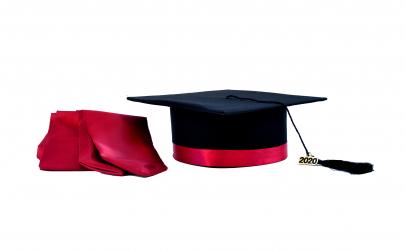Toca absolvire cu bentita + esarfa