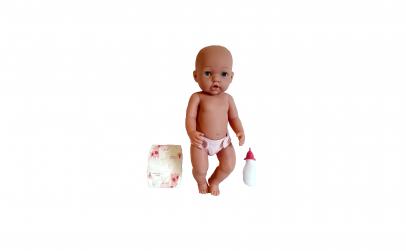 Papusa bebelus cu biberon si scutec