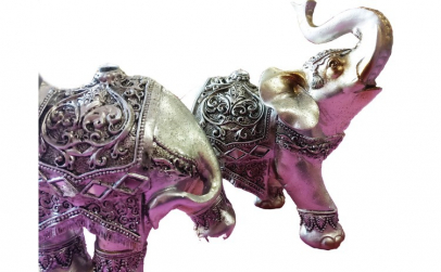 Set 2 elefanti decorativi
