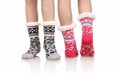 Set 2 perechi ciorapi botosei imblaniti