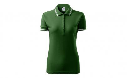Tricou dama, model polo, verde sticla