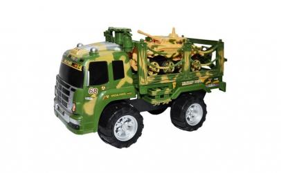 Camion militar cu tanc,multicolor,3 ani