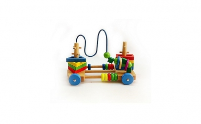 Jucarie din lemn Montessori 4 in 1