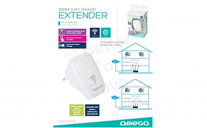 Range Extender Wireless Omega 300Mbps