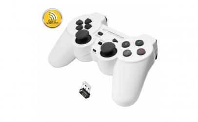 Gamepad Esperanza 2.4GHz PS3/PC USB Alb