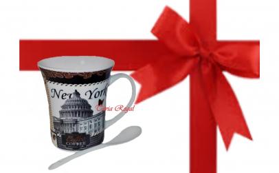 Cana pentru ceai si cafea cu lingurita