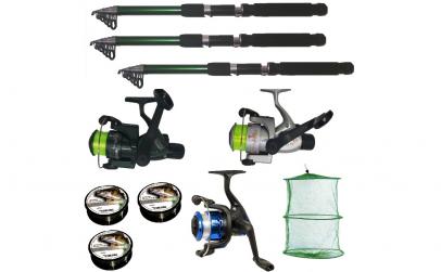 Set pescuit cu 3 lansete 3,6m