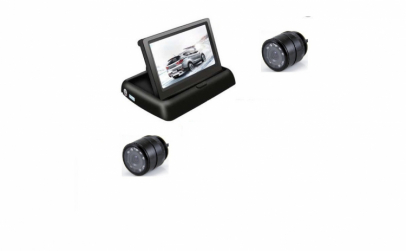 Set monitor rabatabil camera si spate