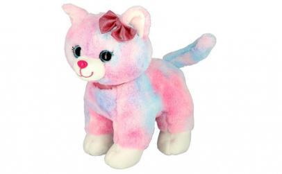 Pisicuta de plus Pink Cat, 18 cm
