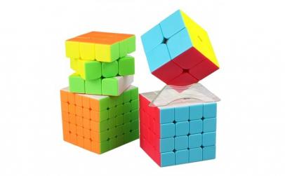 Set cub rubik QiYi 4 In 1 stickerless