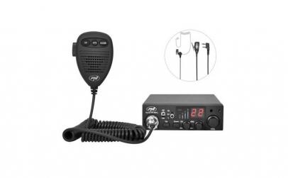 Statie radio + casti cu microfon