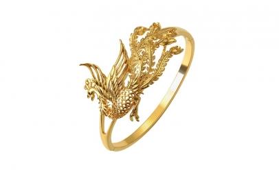 Bratara Peacock - dublu placata aur 24K