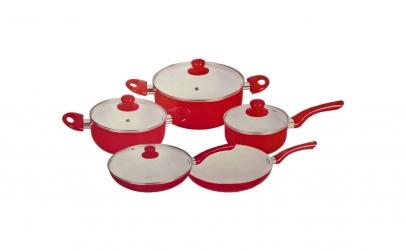Set vase de gatit din ceramica - 9 piese