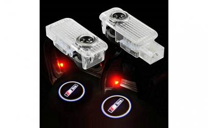 Lampi led logo portiere Audi A7 si A8