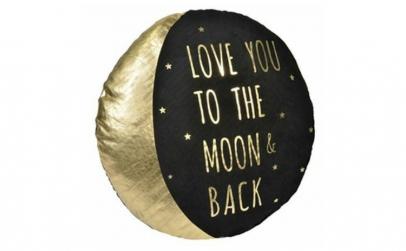 Perna decorativa forma luna cu mesaj