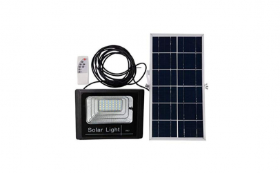 Lampa solara 50W cu panou solar si telec