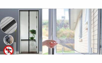 Set Anti-Insecte: perdea usa+perdea geam