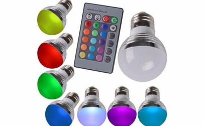 Bec Multicolor cu telecomanda