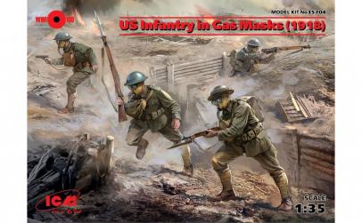 1:35 US Infantry in Gas Masks (1918) (4