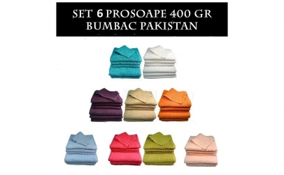 Set de 6 prosoape - 100% Bumbac